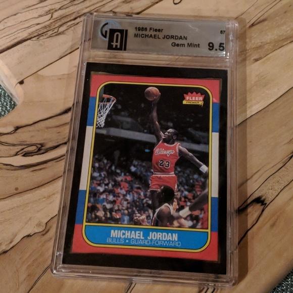 Authentic 1986 Fleer Michael Jordan Rookie Card